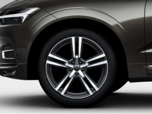 "Volvo XC60 Komplette Räder, 20"" 5-Double Spoke Tech Black Diamond Cut"